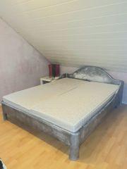Bett Doppelbett komplett Vintage Shabby