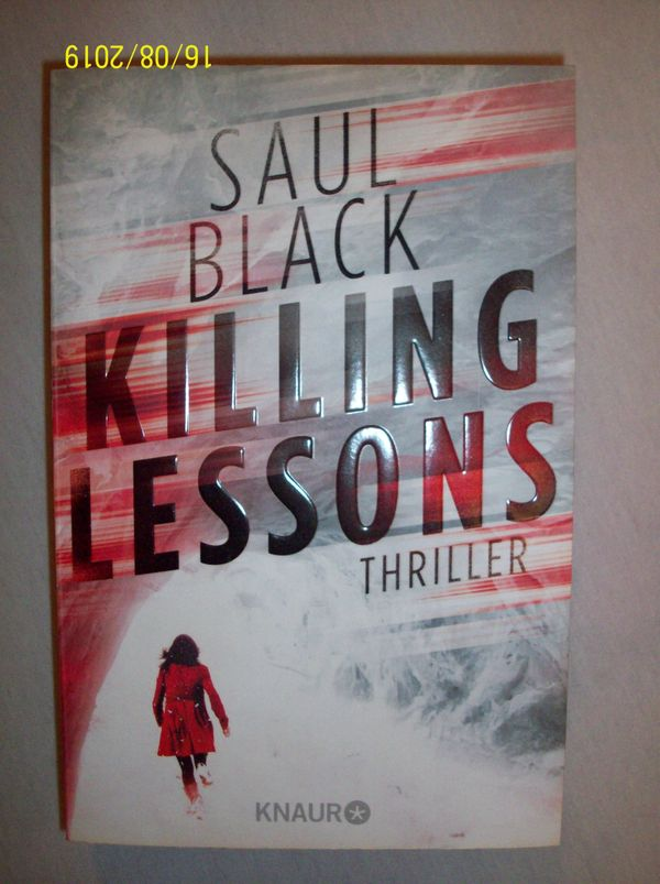 Saul Black KILLING LESSONS Thriller