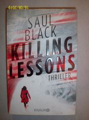 Saul Black KILLING LESSONS Thriller