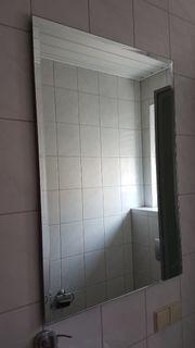 Spiegel mit Facettenschliff rechteckig