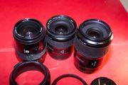 3 Minolta 28-85mm 28-105mm 100-200