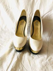 weiße High Heels von sergio