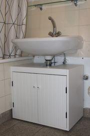 SILVERÅN Waschbeckenunterschrank 2 Türen weiß