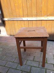 Alter Küchenhocker DEKO Bretthocker Hocker