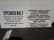 DDR Militaria Sperrgebiets Grenzschild Grenzschilder
