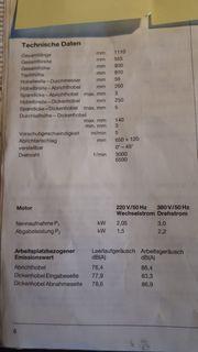 scheppach-Hobelmaschine