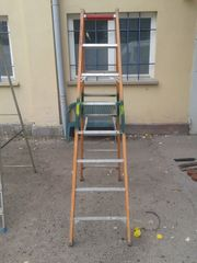 HACA ISO-STEP Elektriker Stehleiter GFK