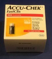 6 x ACCU CHEK Fastclik