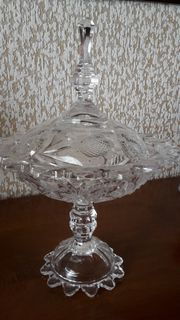 Kristallglas Bonbonniere