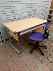 Schreibtisch Kinderschreibtisch mit Drehstuhl