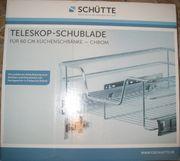 Teleskop-Schublade Chrom für 60cm-Schränke