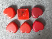 Tupperware Herzenformen 6 Tupperdosen in