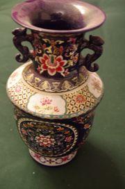 Blaue China Porzellan Vase Blume