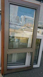 Holzfenster mit Aluminiumverkleidung außen