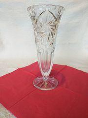 Schwere Bleikristall Vase mit schönen