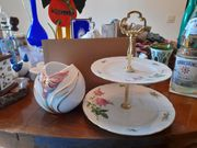 Aparte Vase Kugelform und Etagere