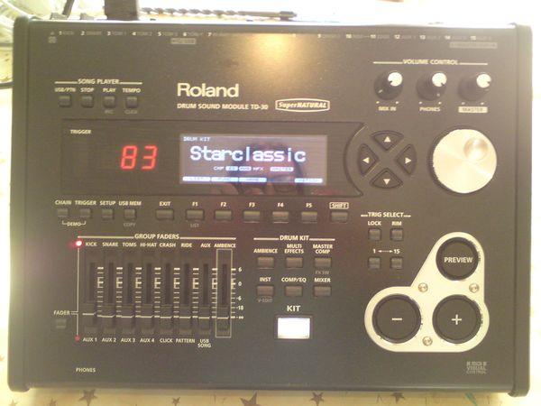 Roland TD 30 Soundmodul mit 2x Drumtec Soundeditionen