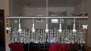 Hängelampe mit viel Kristallglas