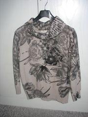 Hellgrauer Pullover - Größe 44