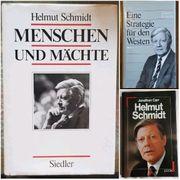 3 Bücher von Helmut Schmidt