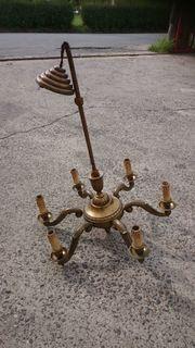 Kronleuchter 6-flammig Messing antik