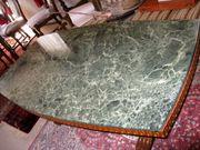 Wohnzimmertisch mit Marmorplatte Retro rustikal