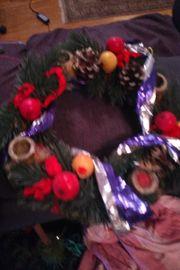 Weihnachtskranz Mutze kleiner Weihnachtsbaum