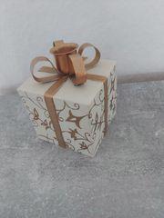 Weihnacht Deko Kerzenhalter gold beige