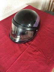 Motorradhelm schwarz Gr 52 53
