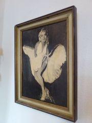 Bild auf Holzplatte Merilyn Monroe
