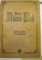 Ahnenpaß Filser Mauhard aus Finsterwald