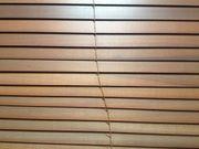IKEA Lamellenrollo LINDMON Holz dunkelbraun