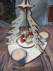 Teelicht Weihnachtspyramide für 3 Kerzen