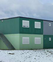 Wohncontainer 6er- Containeranlage mit 108