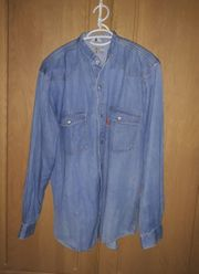 Vintage Lang Arm Jeans Hemd