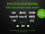 Digitalisieren Überspielen VHS VHS-C MiniDV
