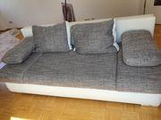 2er Sofa weiß Kunstleder sehr