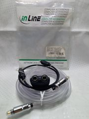 OPTO Audiokabel InLine transparent 5