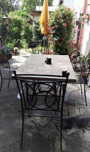 Garten-Sitzgruppe - 1 Tisch 4 Stühle