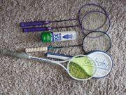 Squash- u Federballschläger Tasche Bälle