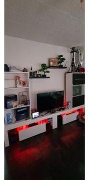 Wohnwand mit LED zu verkaufen