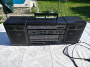 Vintage Doppel-Stereo-Radio-Recorder Double Kassetten-Rekorder Lautsprecher