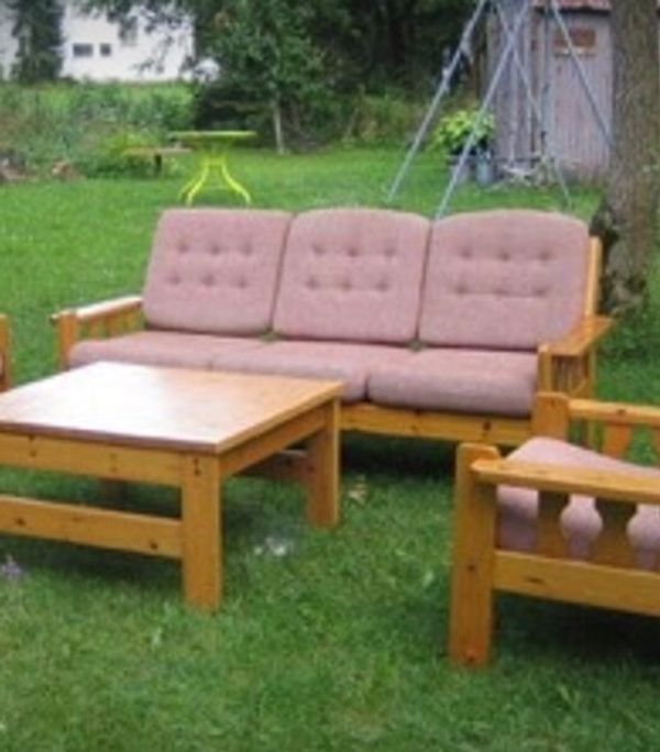 Sitzbank Sessel Tisch