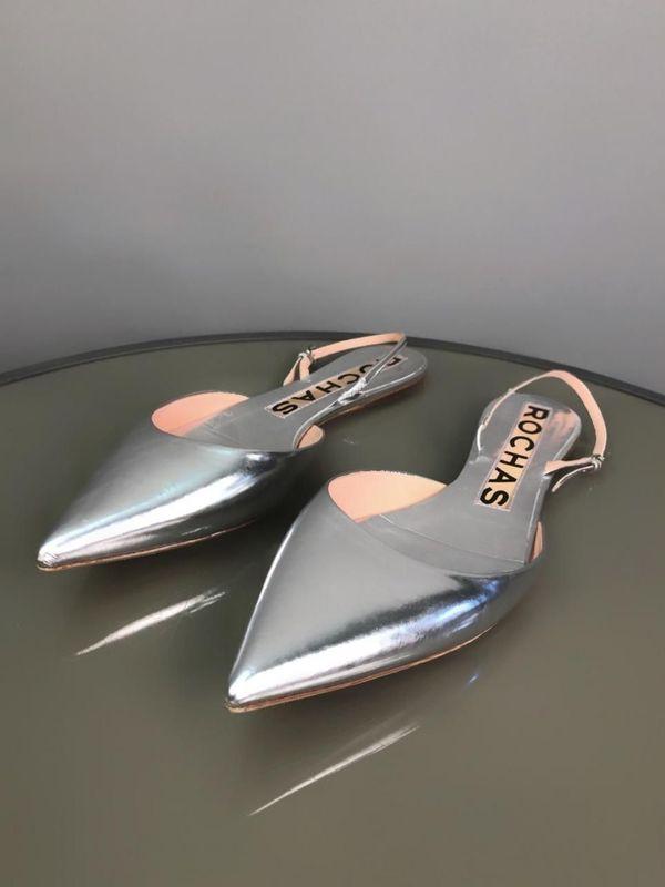 Rochas Gr 38 Flache Schuhe
