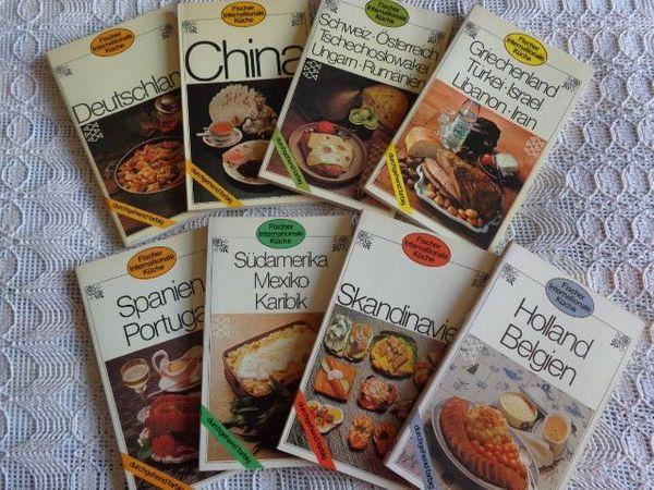 Vintage - 8 Kochbücher Internationale Küche -