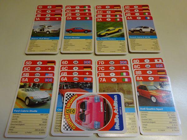 Quartett Kartenspiel aus den 80ern