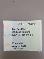 MVV Ticket Zone M4 im