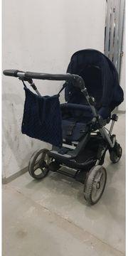 Kinderwagen Teutonia dunkelblau NP über