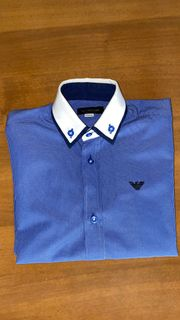 TOP - Armani Classic Hemd blau