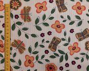 Stoff Stoffpaket Schmetterlinge Blumen-1